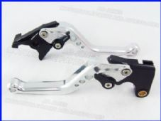 Triumph SPEED FOUR (05-06), CNC levers short silver/black adjusters, F14/T333